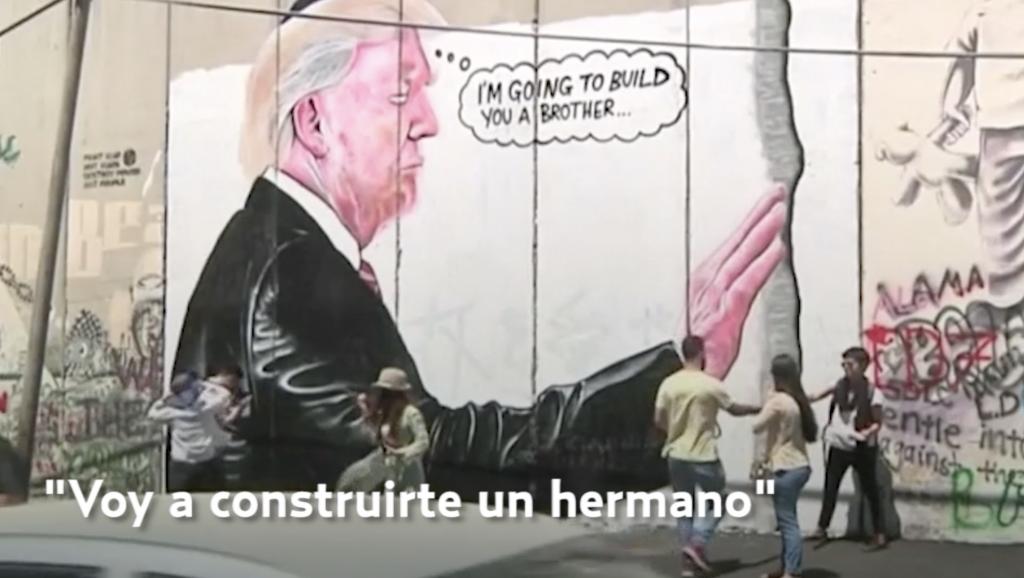 Grafiti de Trump aparece en muro israelí