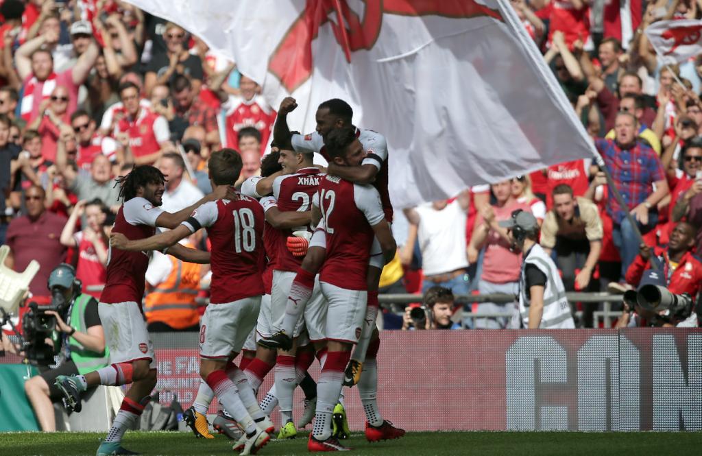 Victoria del Arsenal sobre el Chelsea. @AFP