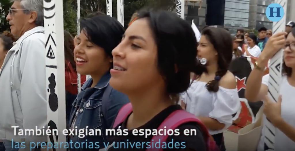 Estudiantes marchan por espacios educativos