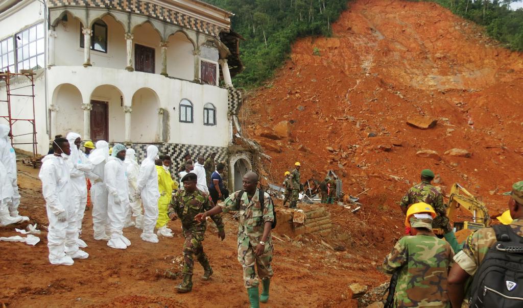 Catástrofe en Sierra Leona. @AFP