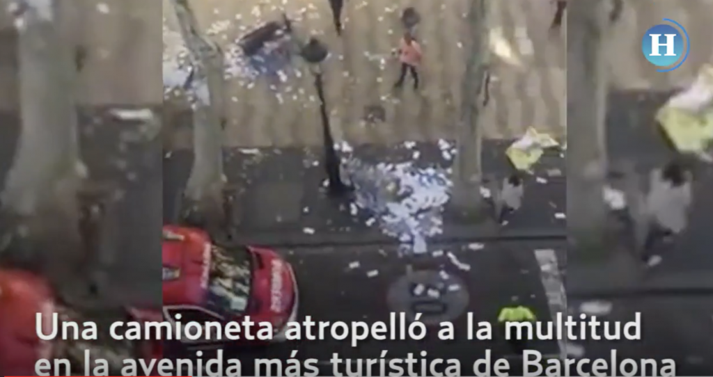 Camioneta atropella a multitud en Barcelona
