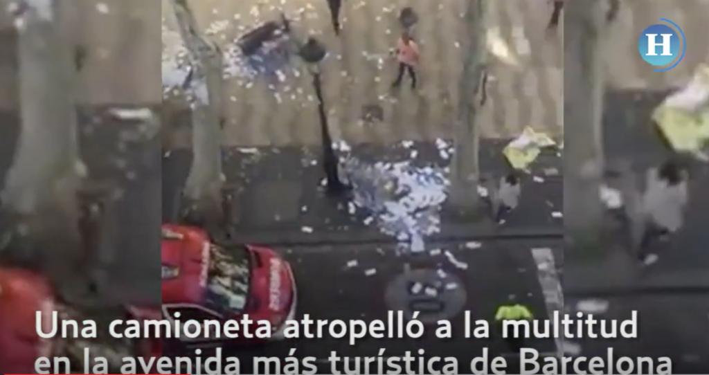 Camioneta atropella a multitud en Barcelona
