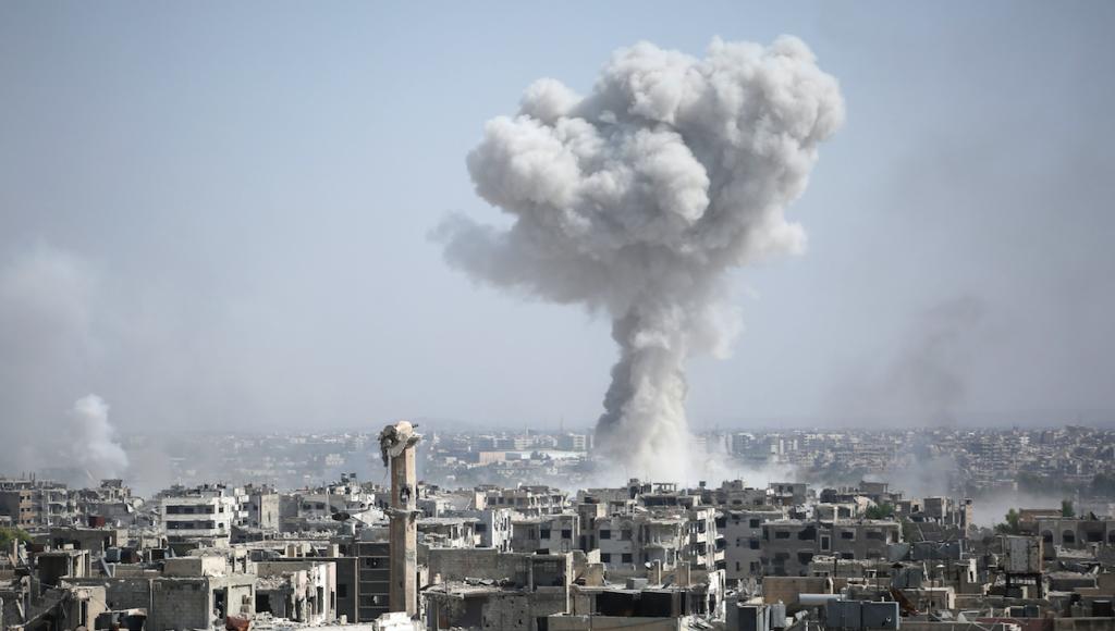 Ataques en Damasco. @AFP