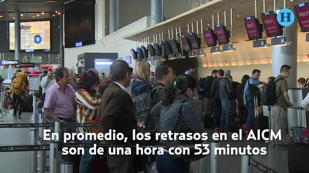 Las aerolíneas con más vuelos atrasados en el AICM
