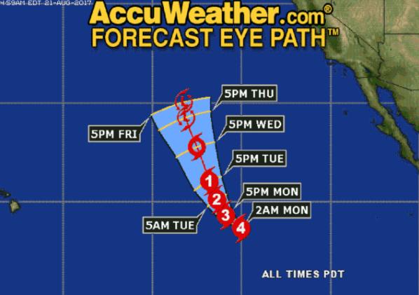 Huracán Kenneth alcanza la categoría 4 en el Pacífico sin que afecte México