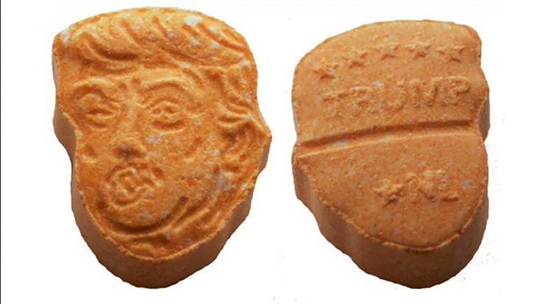 Decomisan pastillas de éxtasis con forma de Donald Trump en Alemania