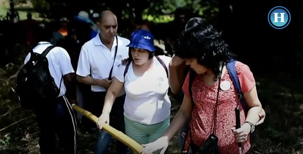 Aventura turística para ciegos en Cali, Colombia