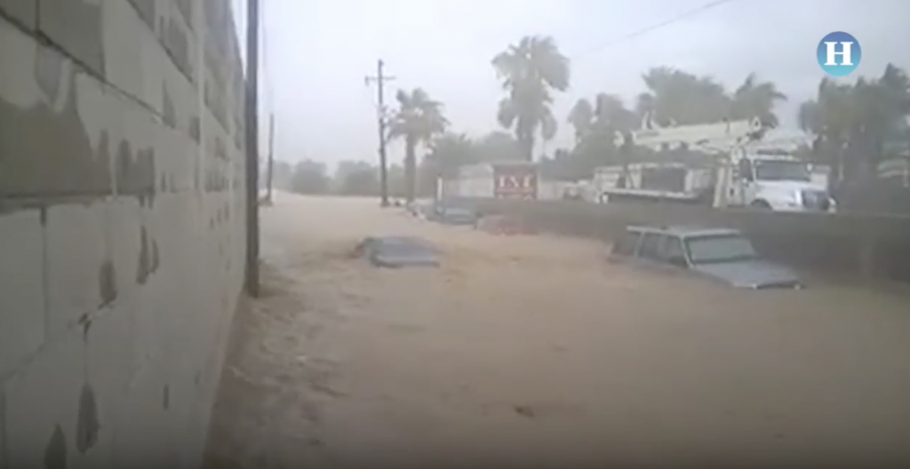 Tormenta Lidia provocó inundaciones en Los Cabos, BC