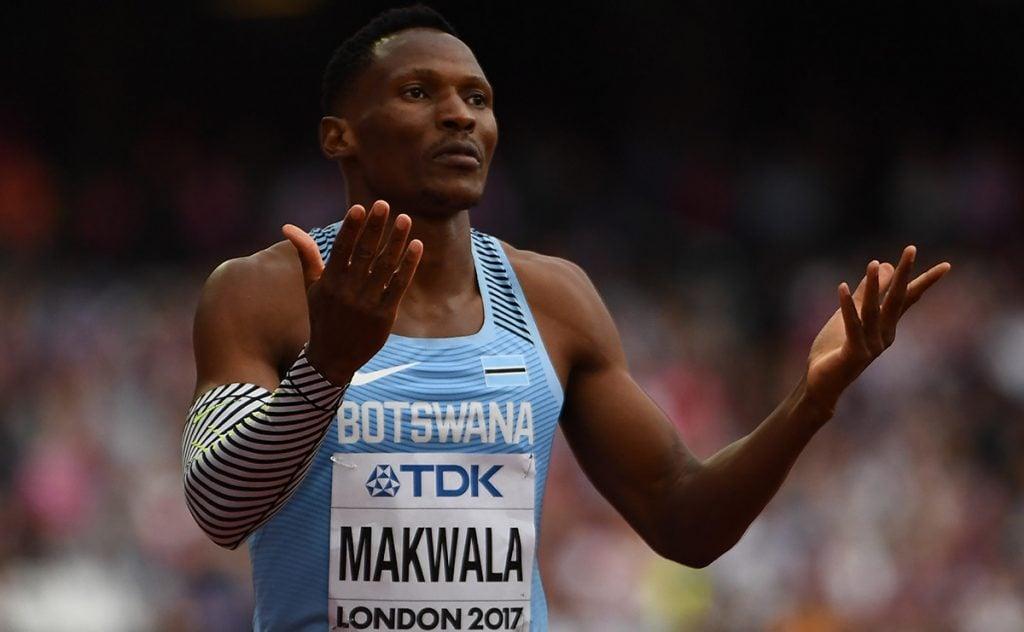 FOTO AFP. El botswano Isaac Makwala quedó fuera de la final de 400m. por la enfermedad.