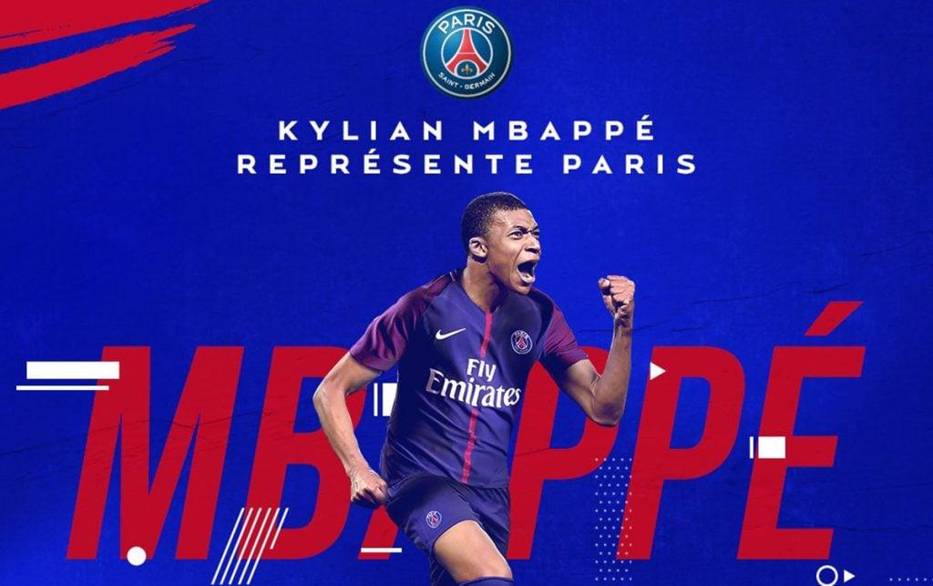 El París Saint-Germain anunció de forma oficial el fichaje del francés Kylian Mbappé, el segundo fichaje más caro de la historia del fútbol.