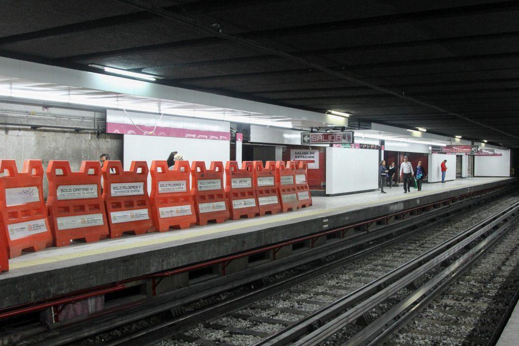 División de vagones del metro de la CDMX. @Cuartsocuro.com