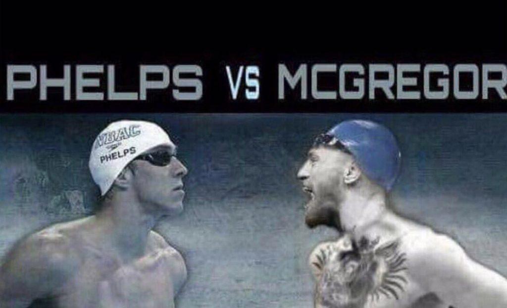 El multimedallista olímpico Michael Phelps preguntó a Conor McGregor vía Twitter si ahora ellos debían competir, luego de sus 'enfrentamientos' ante el Tiburón blanco y Mayweather, respectivamente.