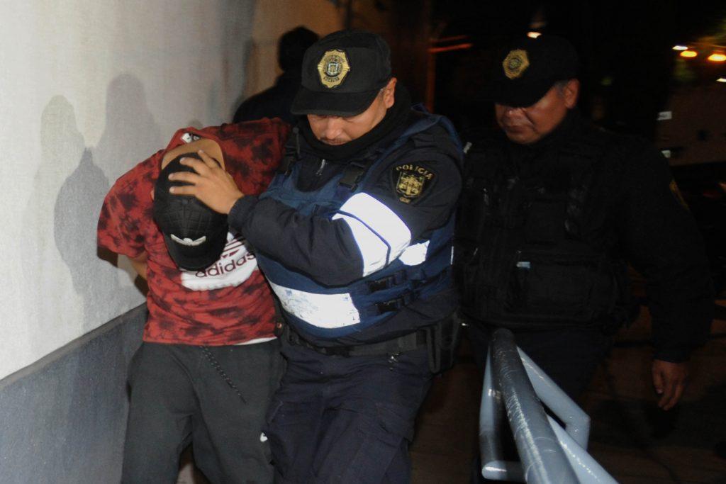 Traslado de detenidos en Tláhuac. @Cuartoscuro.com
