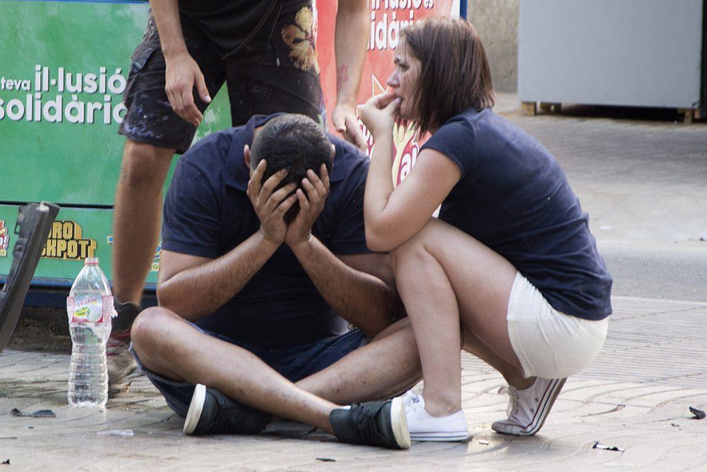 FOTOS: La escena del atentado en Barcelona