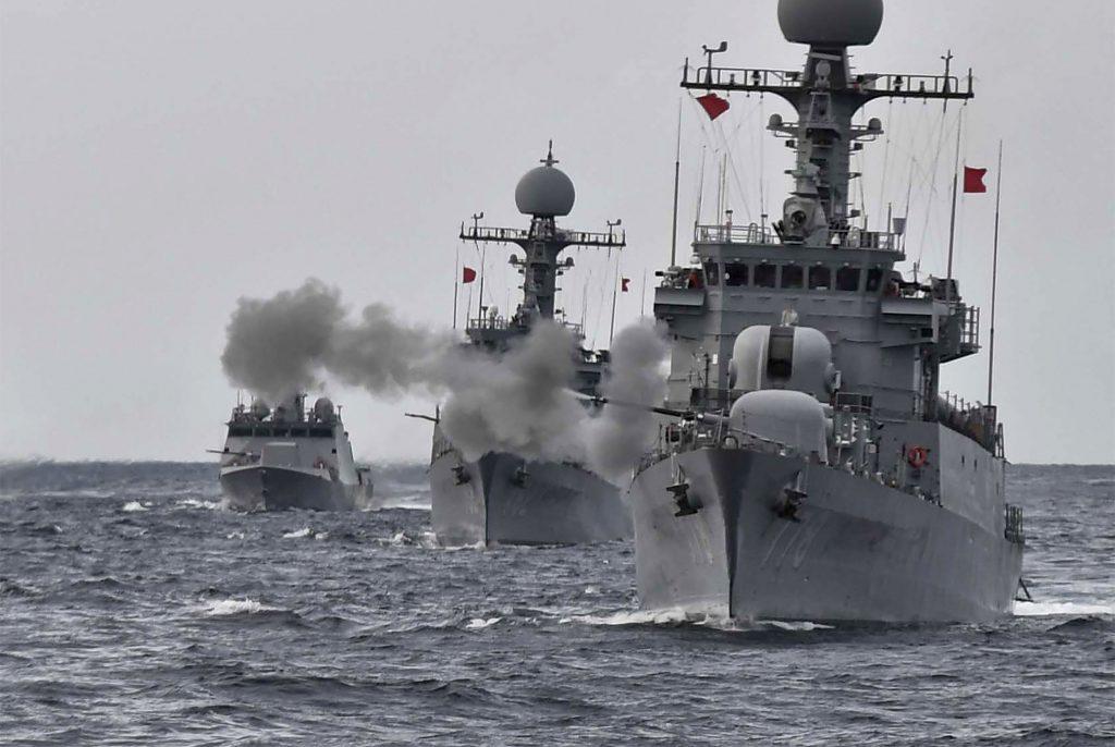 Ejercicios de guerra de Corea del Sur. @AFP