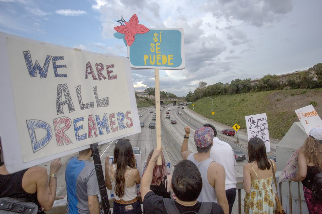 Dreamers protestando en Estados Unidos. @AFP.