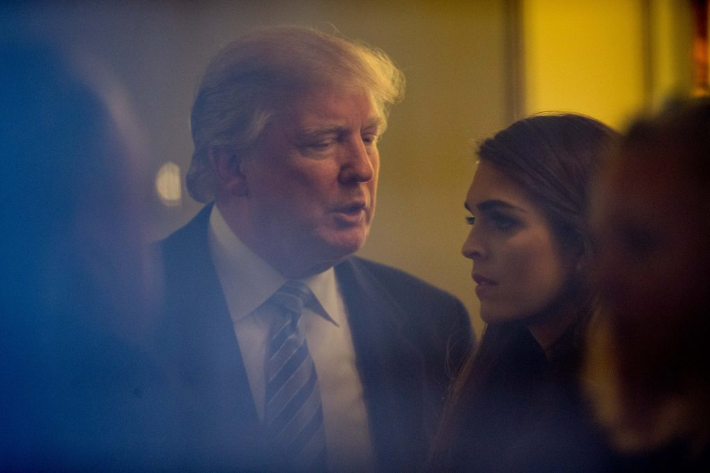 Donald Trump, Hope Hicks. @AP