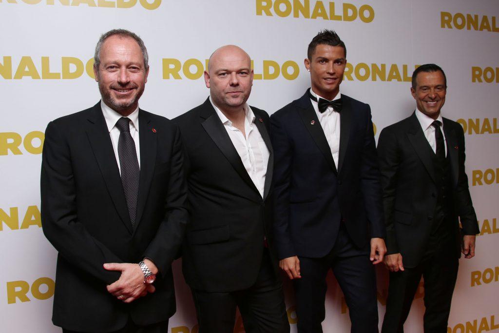 Anthony Wonke, Paul Martin, Cristiano Ronaldo, Jorge Mendes. @AP