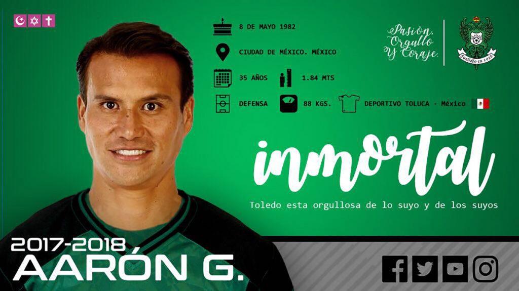 El experimentado defensa Aarón Galindo jugará con el Toledo de la Segunda División B de España, en lo que será una nueva experiencia en Europa.