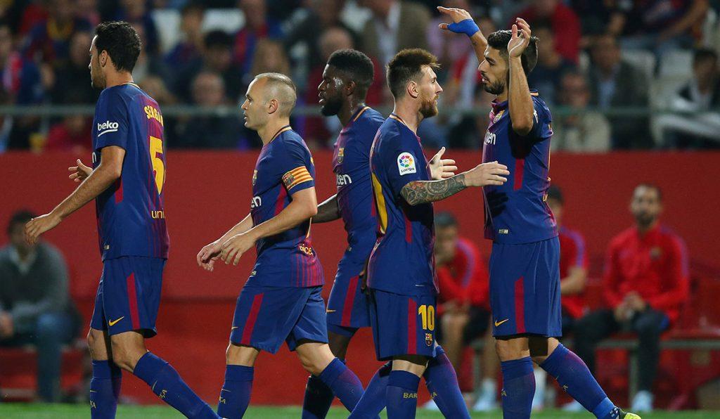 El Barcelona venció 3-0 al Girona y se afianza en la punta; doblete de Dani Ceballos salva al Real Madrid que vence 2-1 al Alavés; Atletico 2-0 al Sevilla.