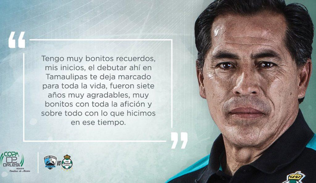 En el marco de la Copa Olergi, Santos Laguna enfrentará este sábado al Tampico, en un partido en el que se rendirá homenaje al 'Maestro' Galindo.