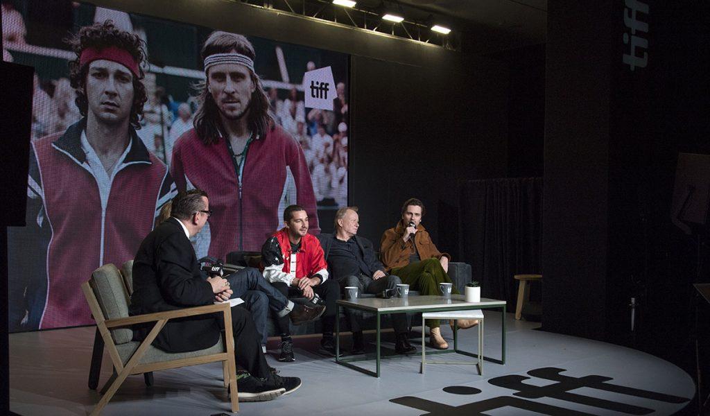 La película sobre la rivalidad de los tenistas Bjorn Borg y John McEnroe en Wimbledon en 1980 abrió el prestigioso festival canadiense.