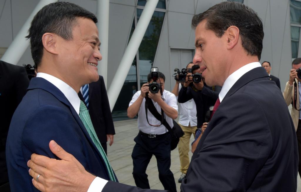 Enrique Peña Nieto y Jack Ma. @presidencia