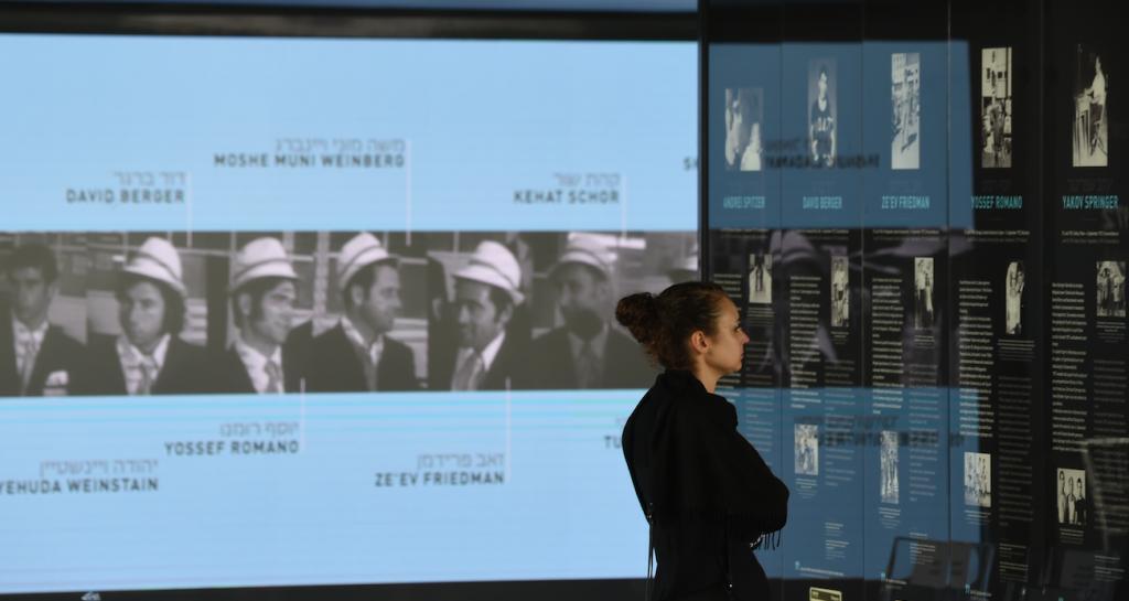 Memorial en Múnich dedicado a las víctimas de 1972. @AFP