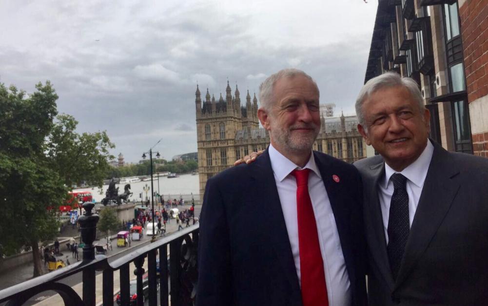Jeremy Corbyn, Andrés Manuel López Obrador. @lopezobrador_