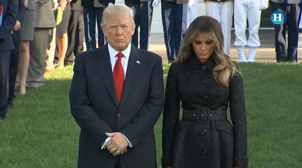 Trump y Melania guardan un minuto de silencio por 9/11
