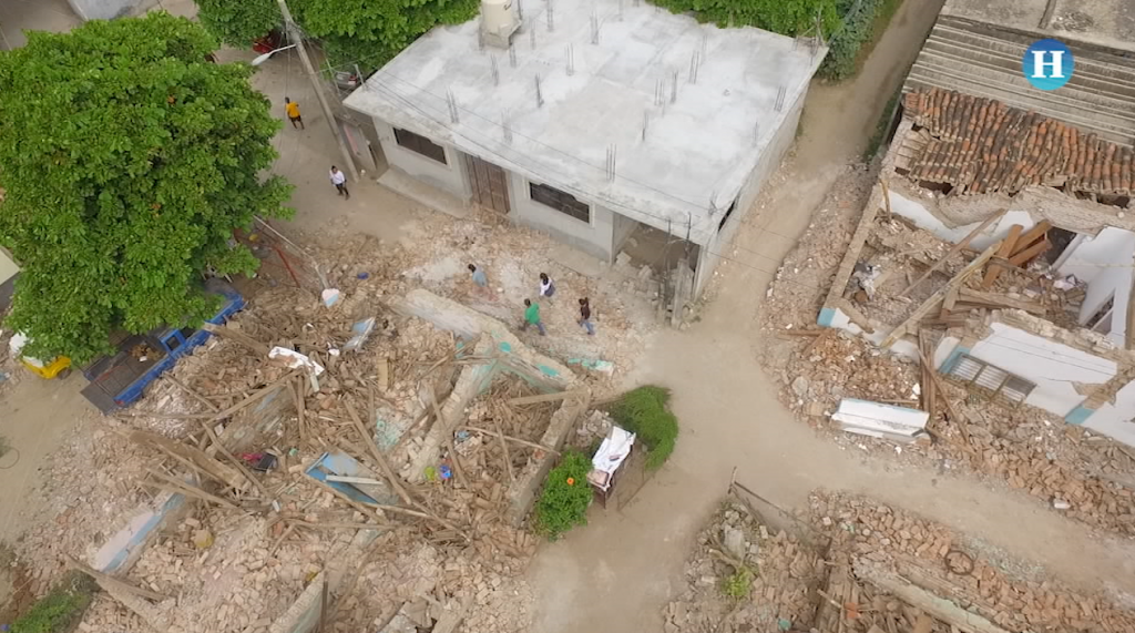 La devastación en Oaxaca vista con un dron