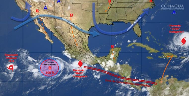 CFE despliega plan de contingencia por huracán Max en Guerrero