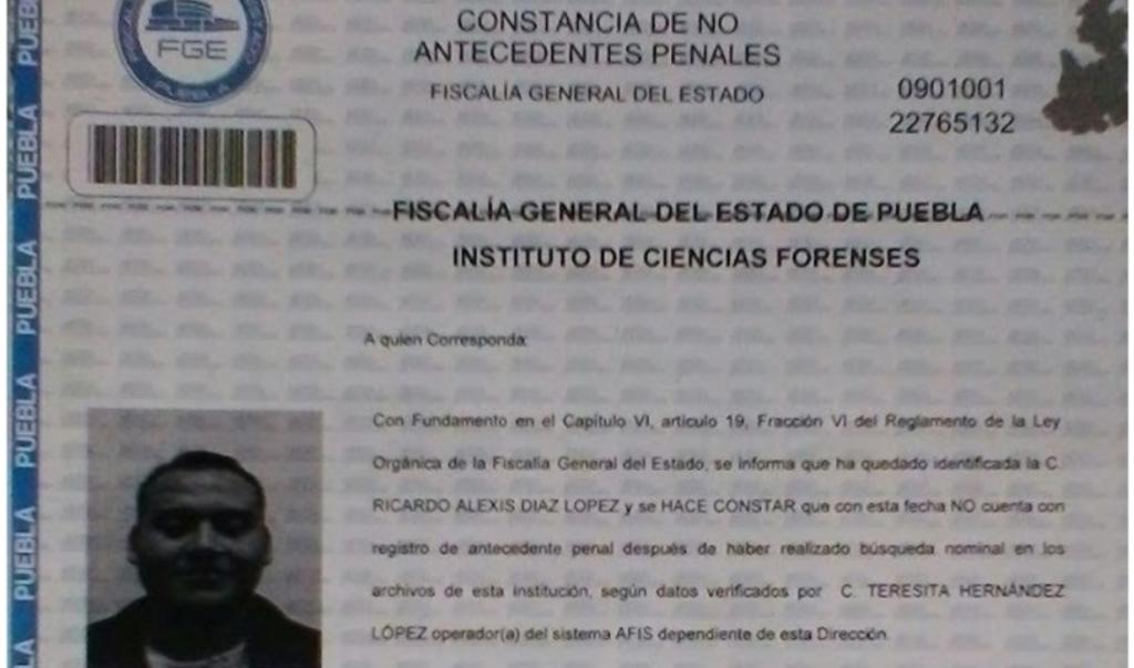 Chofer tenía carta de No Antecedentes Penales por fiscalía de Puebla: Cabify