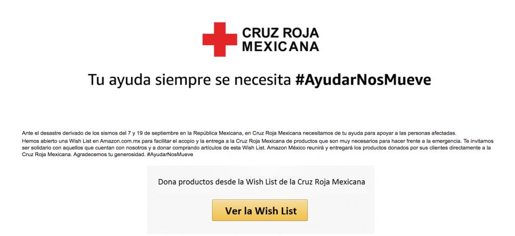 Amazon México lanza campaña con la Cruz Roja para recaudar fondos