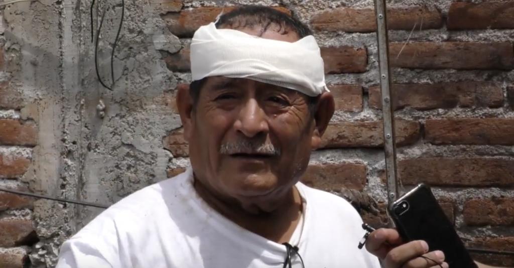 Avelino perdió a su esposa en el sismo que azotó a Jojutla, Morelos