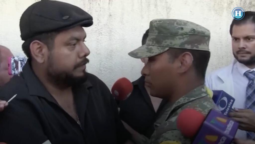 Así fue el encuentro entre Marcos Gil y el soldado rescatista