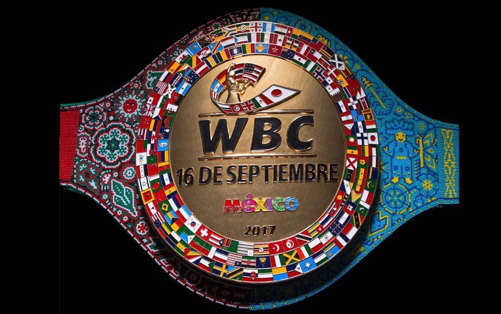 Mauricio Sulaimán, presidente del CMB, presentó el nuevo cinturón huichol que se llevará el ganador entre Saúl 'Canelo' Álvarez y Gennady Golovkin.