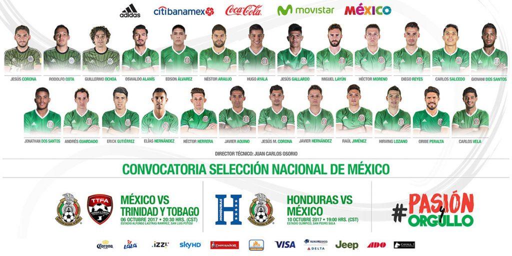 Carlos Salcedo, Miguel Layún y Oribe Peralta son las novedades en la Selección Mexicana para los últimos partidos del hexagonal ante Trinidad y Tobago y Honduras.