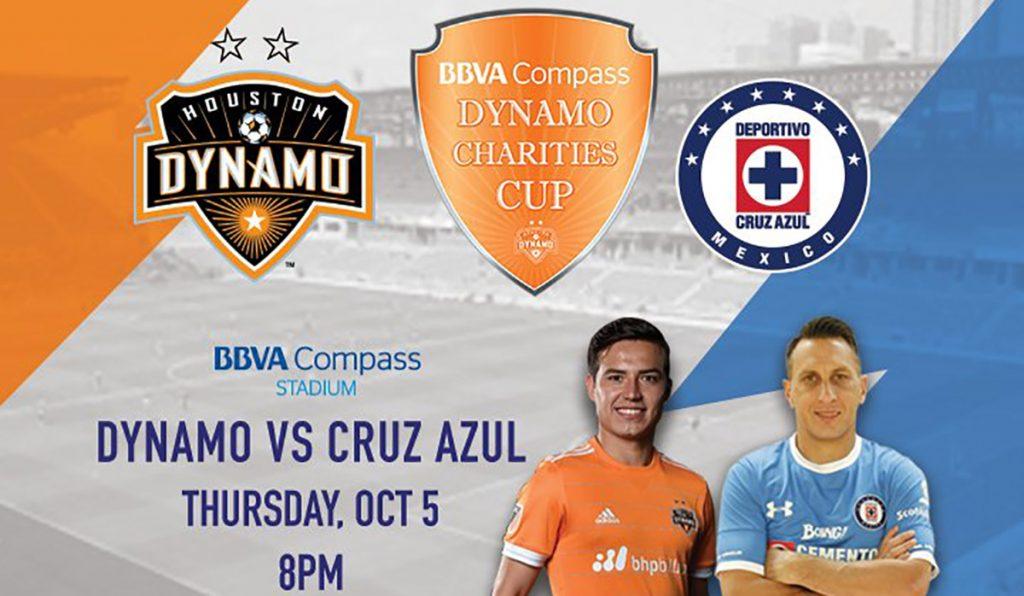 Cruz Azul enfrentará al Dynamo de la MLS el próximo 5 de octubre a beneficio de los damnificados por el huracán Harvey.