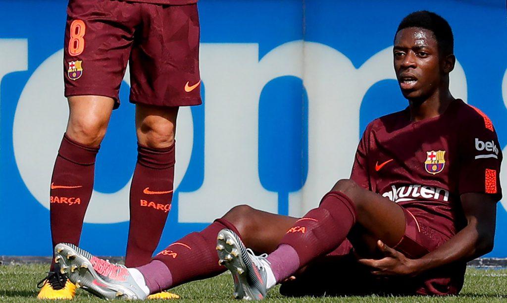 El delantero del Barcelona Ousmane Dembélé fue sometido con éxito a una cirugía para reparar una ruptura de tendón del muslo izquierdo.