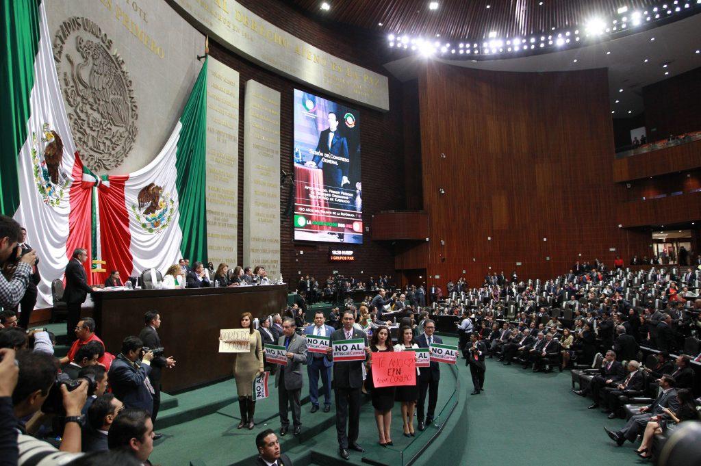 Quinto Informe de Gobierno de Enrique Peña en San Lázaro. FOTO: EFE/Mario Guzmán