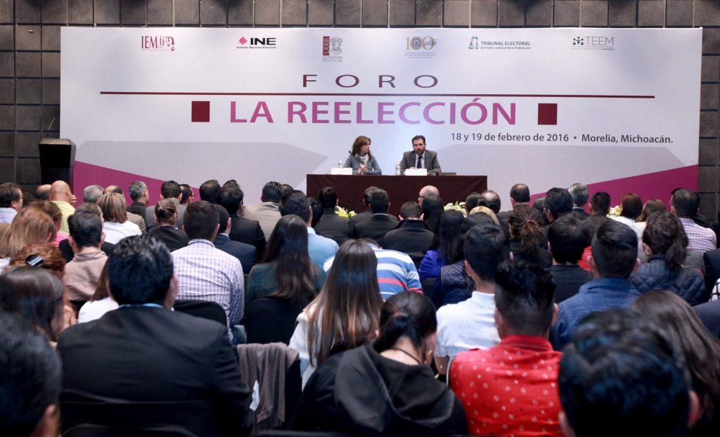 Foro Reelección. @Cuartoscuro.com