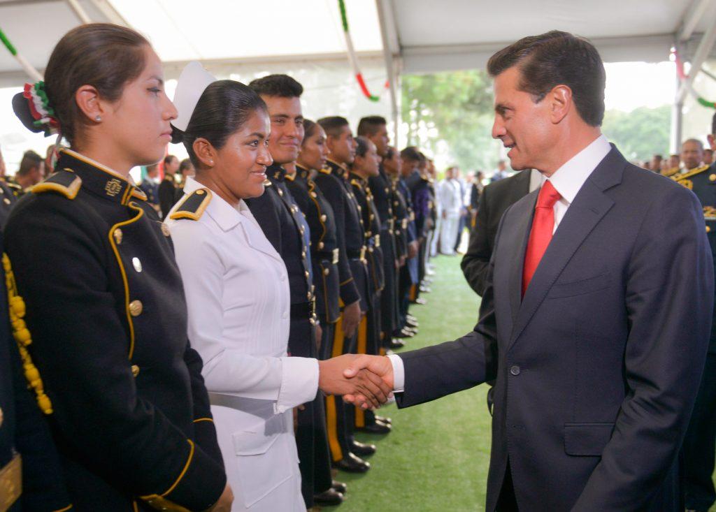 Enrique Peña Nieto durante las celebraciones de la independencia. @Cuartoscuro.com