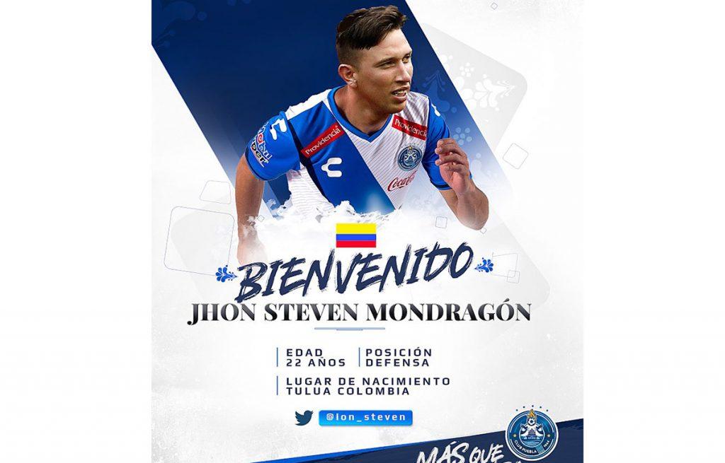 El defensa colombiano John Mondragón se convirtió en el último refuerzo del Puebla para el Apertura 2017; viene del Osasuna español.