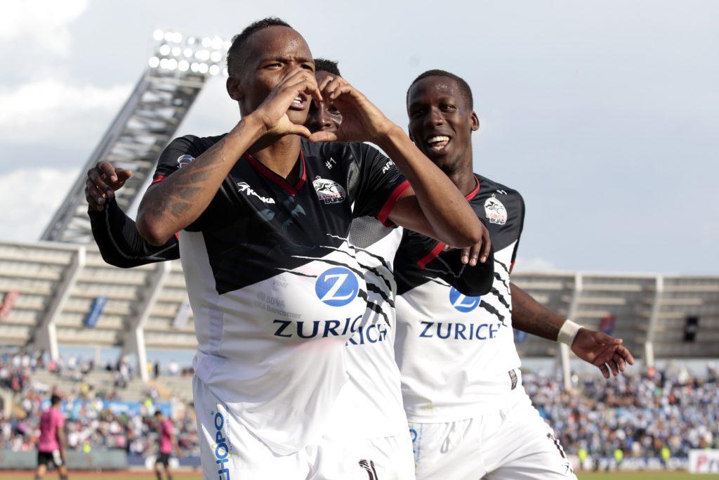 Julián Quiñones festeja uno de sus goles en el torneo. CUARTOSCURO.