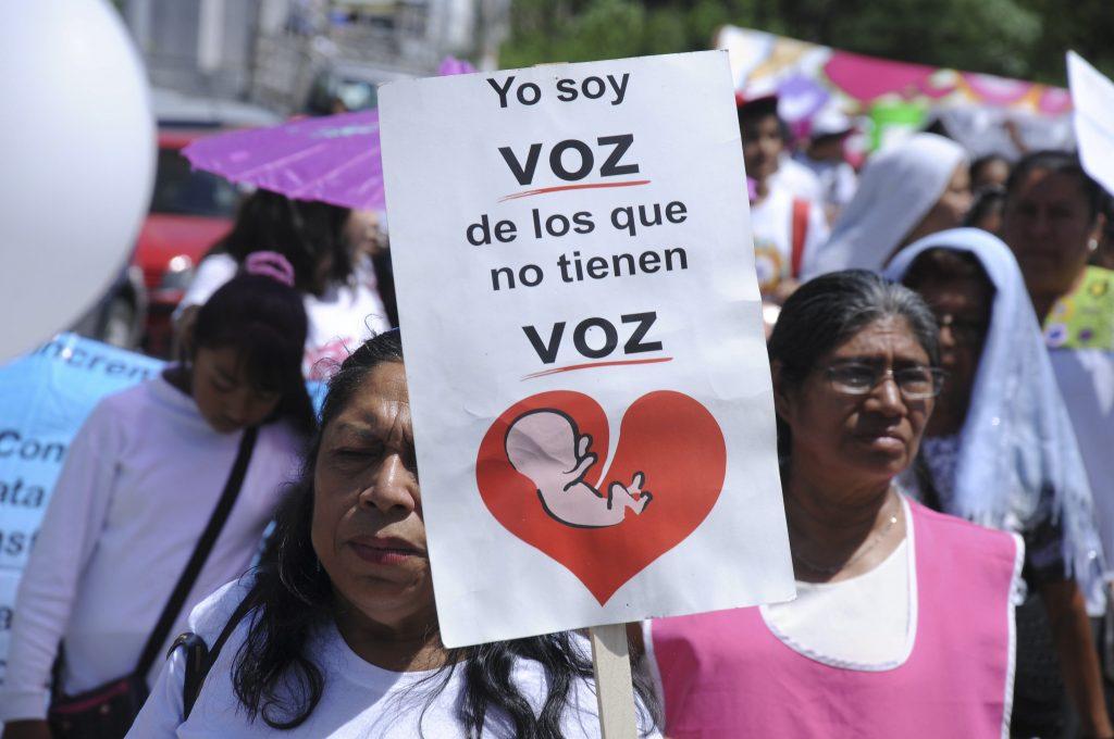 Marcha contra el aborto. CUARTOSCURO.