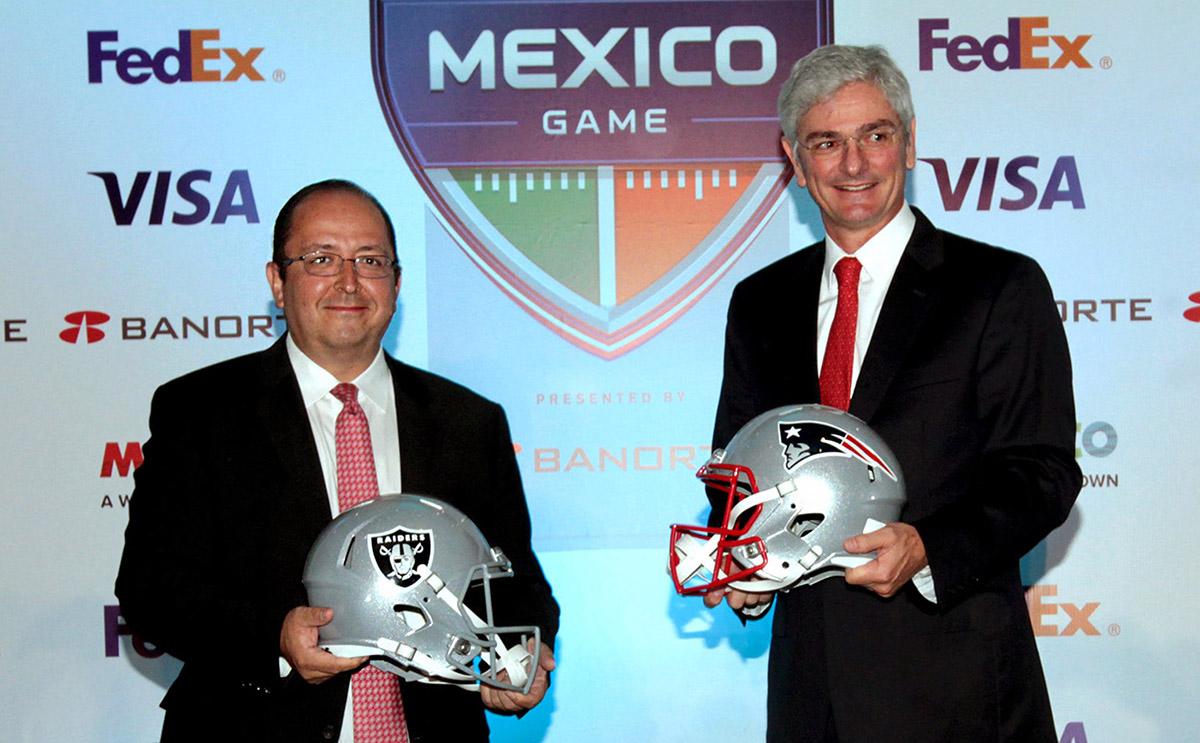 Tras la revisión del Estadio Azteca, el juego de Patriotas contra Raiders del 19 de noviembre sigue  firme, pero esperan visto bueno del gobierno tras sismo.