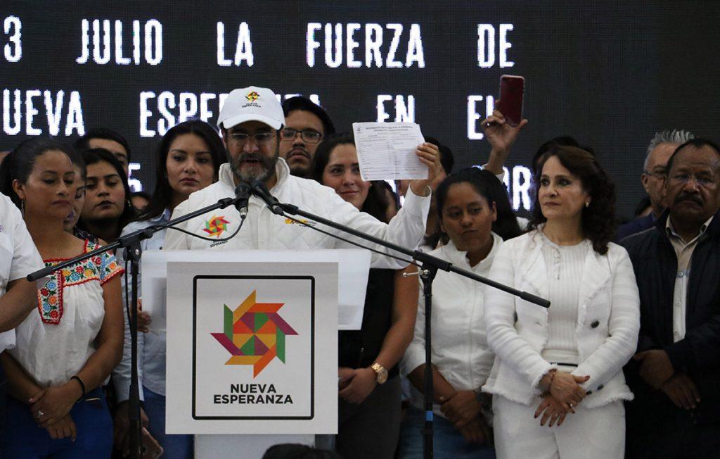El Movimiento Nacional por la Esperanza (MNE), encabezado por Dolores Padierna y René Bejarano acordó aliarse con Morena y apoyar la candidatura de López Obrador.