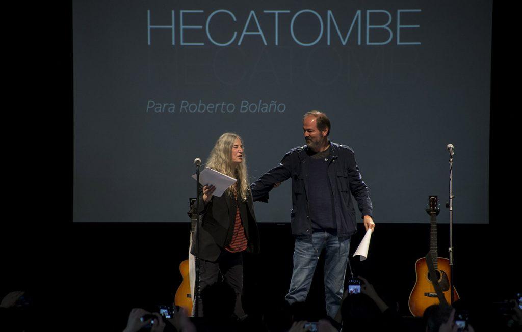 Durante su presentación en La Casa del Lago, Patti Smith habló de la obra de Bolaño, los 43 desaparecidos de Ayotzinapa y de su relación con Frida Kahlo y Diego Rivera.