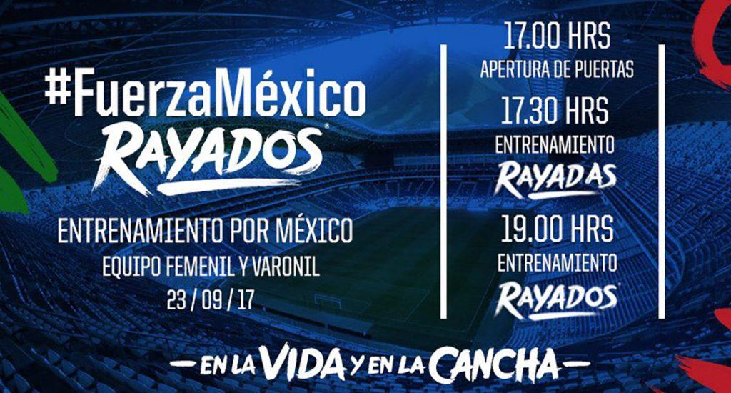 Tigres de la UANL dejará entrar al público a la práctica de este sábado a cambio de un donativo; Monterrey cobrará 20 pesos y duplicará el moto final.